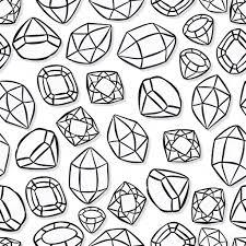 monochrome beautiful shining crystals diamonds precious stones