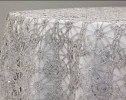 wedding linens for sale silver tablecloth etsy