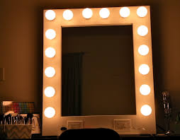 mirror with light bulbs lighting vanity mirror with light bulbs and desk around it diy