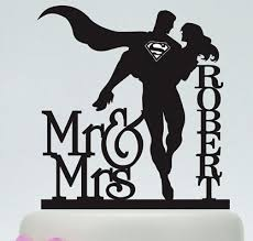 superman cake toppers acrylic wedding cake toppers superman couples custom groom