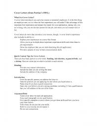 The Best Cover Letter For A Resume by Purdue Owl Cover Letter