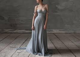 Silk Wedding Dresses Eeribiya Grey Wedding Dresses Silk Wedding Dress Boho