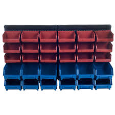 Garage Tool Organizer Rack - stalwart 30 bin wall mounted parts rack general purpose storage
