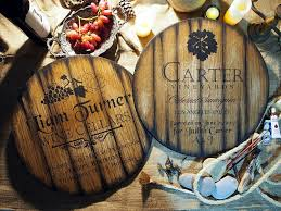 personalized decor sign inspired by wine barrel tops rustic home