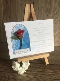 Beauty And The Beast Wedding Invitations Beauty And The Beast Inspired A6 Wedding Invitation With Foam Rose