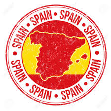 Picture Of Spain Flag 25659407 Grunge Rubber Stamp With Spanish Flag Map And The Word