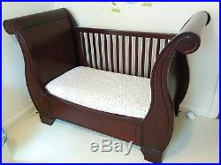 Pottery Barn Sleigh Bed Pottery Barn Kids Larkin Sleigh Crib Convertible To Toddler Bed
