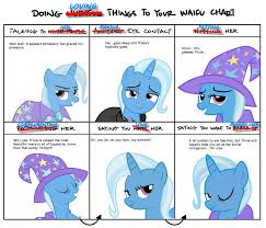 Trixie Meme - 648969 alicorn amulet bedroom eyes doing loving things