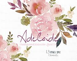wedding flowers adelaide digital clipart watercolor flower clipart peonies clip