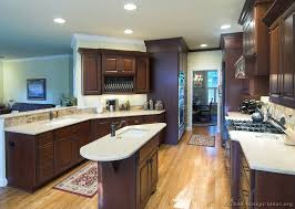 oil rubbed bronze kitchen cabinet pulls traditional tuesday kitchen of the day dark cherry cabinets a