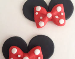 mouse ears with bow cupcake toppers minnie