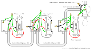 4 way switch setup with multiple runs of lights for wiring diagram