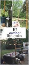 Backyard Light Pole by Outdoor String Light Pole