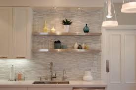 metallic kitchen backsplash 15 backsplash shelves both practical and looking