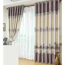 Curtain Panels Country Style Purlish Grey Floral Curtain Panels