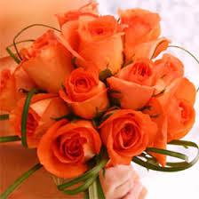 orange roses fresh bridesmaids bouquets with orange roses