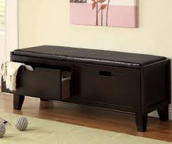 Modern Bench With Storage Living Room Excellent Padded Storage Bench Furniture Favourites