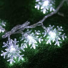 ledtmas snowflakes decorations on snowflake lights