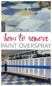 How To Remove Spray Paint From Concrete Patio How To Remove Paint Overspray From Floors