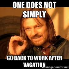 Get Back To Work Meme - back to work and i already need a vacation from my vacation the
