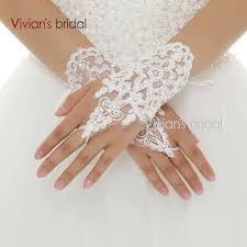 gant mariage de mariée vente chaude mitaines poignet longueur dentelle