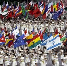 Flags Of The Wrld Weltausstellung Shanghai Stadt Der Expo Und Der Superlative Welt