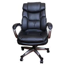 Office Chair Black Leather Black Leather Rolling Office Chair Ebth