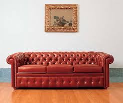Long Chesterfield Sofa by Chesterfield Sofa Leather 3 Seater Red Piccadilly Mascheroni