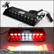 red and white led emergency lights 9 led red white car police strobe flash light dash emergency warning