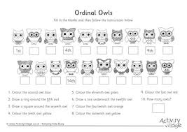 owl ordinal numbers 11 20