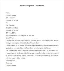 resignation letter sample abrupt resignation letter formats