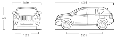 2007 jeep compass suv blueprints free outlines