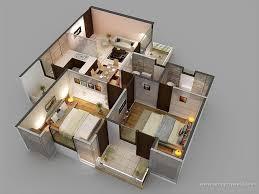 3d apartment design classy 60 3d room layout inspiration of 3d floor plans