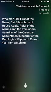 Siri Memes - i also asked siri if she watches game of thrones rebrn com