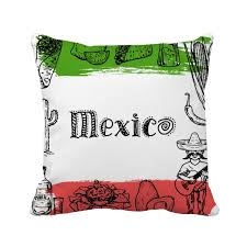 insert cuisine mexico cuisine cactus sketch square throw pillow insert cushion