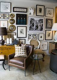 Elle Decor Home Office Gallery Wall Elle Décor Black And White Photography Mirrors And