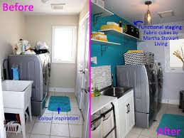 laundry room makeover for a streamline and organize design