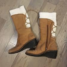 ugg shoes australia brown boots poshmark 61 ugg shoes ugg australia 1939 knee leather boots size