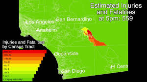 Earthquake Map Los Angeles by M6 9 Earthquake On The San Andreas Coachella Valley Fault Scec