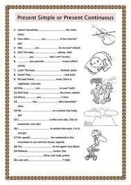 printable worksheets english tenses simple present tense worksheets esol pinterest worksheets