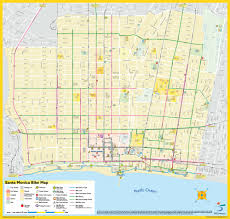 Map Of Santa Monica Getting Here Mini Of Santa Monica