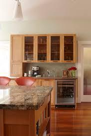Kitchen Transitional Design Ideas - gorgeous cappuccino cups in kitchen transitional with bar counter