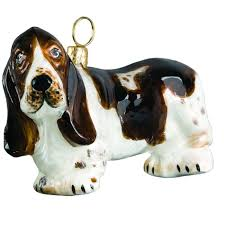 hound standing jtw christmas ornament