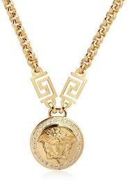 2015 men s jewelry 8mm 60cm new arrival power necklaces versace jewelry for men versace medusa crystals gold plated