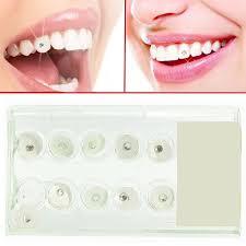 10pcs box 2mm shiny imitation dental whitte tooth