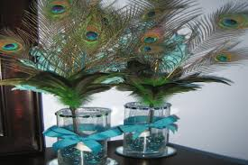 peacock centerpieces peacock centerpieces diy peacock feather centerpieces for a