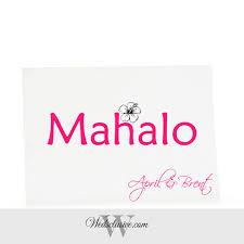 Newlywed Cards Mahalo Thank You Cards Hawaiian Wedding Newlywed Cards