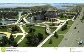 Energy Efficient House Designs 3d Visualization Of The Eco Building With Bionic Form And Energy