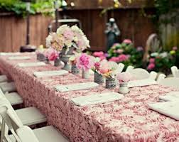 dusty rose table runner chagne wedding linens roses tablecloth sweetheart table