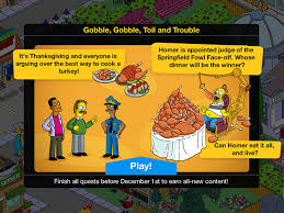 the simpsons tapped out receives thanksgiving event for 2015 adweek